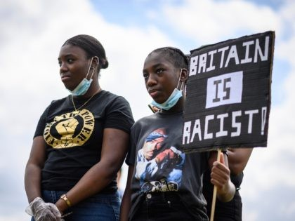 LONDON, UNITED KINGDOM - JUNE 21: Protestors gather in Hyde Park ahead of a march towards Downing Street on June 21, 2020 in London, United Kingdom. Black Lives Matter protests are continuing across the UK following the death of African American George Floyd at the hands of police officers in …