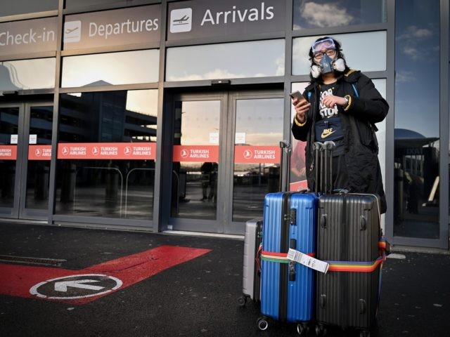 "EDINBURGH, SCOTLAND - JANUARY 18: Members of the public are seen at Edinburgh airport as travel corridors close until February 15, on January 18, 2021 in Edinburgh, Scotland. The UK has now closed its so-called ""travel corridors"" with countries from which arriving travelers were exempt from quarantine requirements. People flying …"