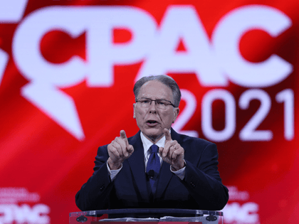 Wayne LaPierre, National Rifle Association, addresses the Conservative Political Action Conference held in the Hyatt Regency on February 28, 2021 in Orlando, Florida. Begun in 1974, CPAC brings together conservative organizations, activists, and world leaders to discuss issues important to them. (Photo by Joe Raedle/Getty Images)