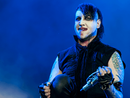 Marilyn Manson performs on stage during the first day of Rock Am Ring on June 2, 2012 in Nuerburg, Germany. (Photo by Peter Wafzig/Redferns via Getty Images)