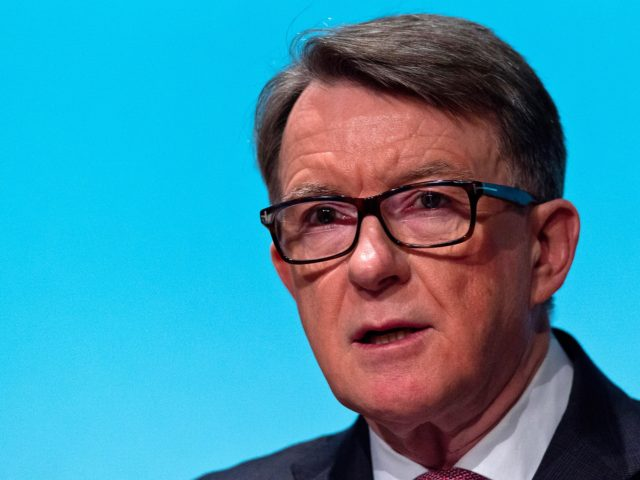 LONDON, ENGLAND - MARCH 01: Lord Mandelson delivers a keynote speech during an event hosted by the Britain Stronger In Europe campaign on March 1, 2016 in London, England. The Britain Stronger In Europe group is currently campaigning to keep the United Kingdom in the European Union ahead of the …