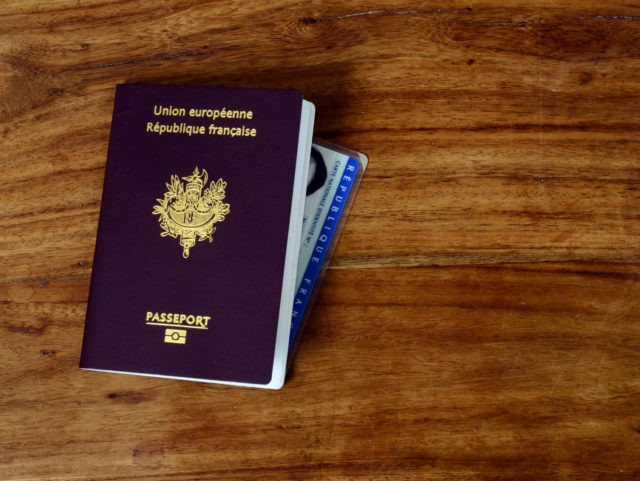 Passeport and identity card of France republic