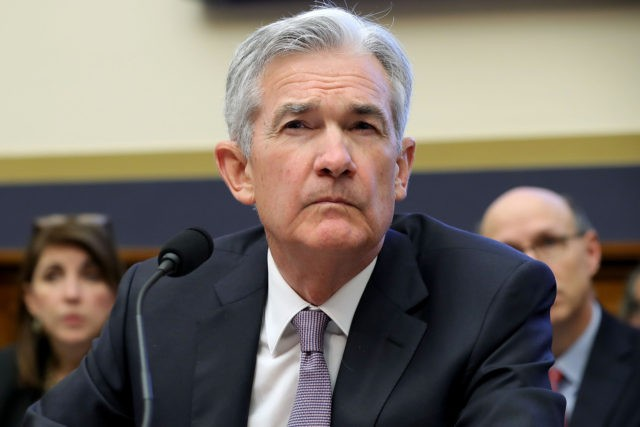 WASHINGTON, DC - FEBRUARY 27: Federal Reserve Board Chairman Jerome Powell testifies before the House Financial Services Committee in the Rayburn House Office Building on Capitol Hill February 27, 2018 in Washington, DC. Powell testified abou the Federal Reserve's semi-annual monetary policy report to Congress and the state of the …