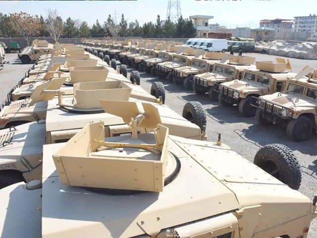 The US gifted military vehicles to the government of Afghanistan.