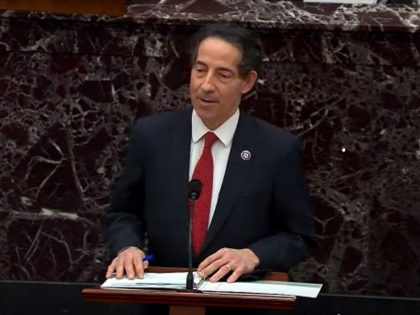 WASHINGTON, DC - FEBRUARY 9: In this screenshot taken from a congress.gov webcast, Rep. Jamie Raskin (D-MD) – lead manager for the impeachment speaks on the first day of former President Donald Trump's second impeachment trial at the U.S. Capitol on February 9, 2021 in Washington, DC. House impeachment managers …