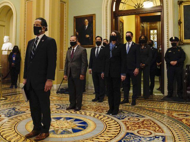 Jamie Raskin and the House Impeachment Managers (Melina Mara / Pool / Getty)