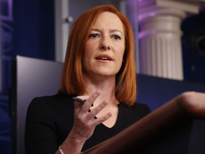 WASHINGTON, DC - FEBRUARY 01: White House Press Secretary Jen Psaki talks to reporters during her daily news briefing at the White House February 01, 2021 in Washington, DC. Psaki commented on President Joe Biden's upcoming meeting with Senate Republicans, the government's response to the military coup in Burma and …