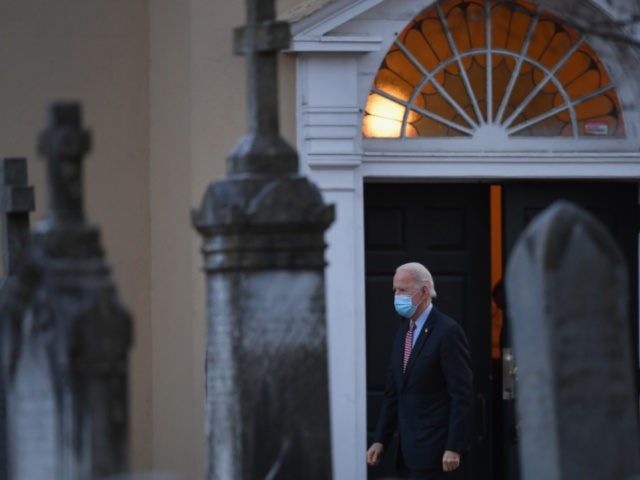 US President-elect Joe Biden leaves St. Joseph on the Brandywine Roman Catholic Church on January 16, 2021 in Wilmington, Delaware. - President-elect Joe Biden will sign executive orders on Inauguration Day next week to address the pandemic, the ailing US economy, climate change and racial injustice in America, a senior …