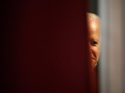 Democratic presidential candidate former Vice President Joe Biden waits backstage before speaking at the Nevada Black Legislative Caucus Black History Awards brunch Sunday, Feb. 16, 2020, in Las Vegas. (AP Photo/John Locher)