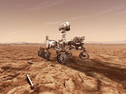 UNSPECIFIED: In this concept illustration provided by NASA, NASA's Perseverance (Mars 2020) rover will store rock and soil samples in sealed tubes on the planet's surface for future missions to retrieve in the area known as Jezero crater on the planet Mars. A key objective for Perseverance's mission on Mars …