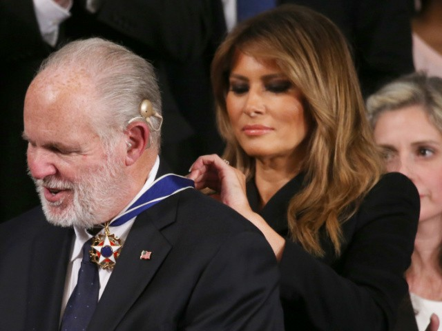 Melania Trump: Rush Limbaugh a 'Fearless American Patriot'
