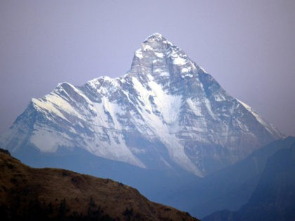 This is nanda devi mountain peak situated in Uttarakhand state of India.