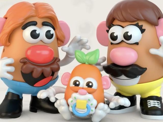 "A Potato Head Family, ""reimagined by the modern customer."" (Hasbro)"