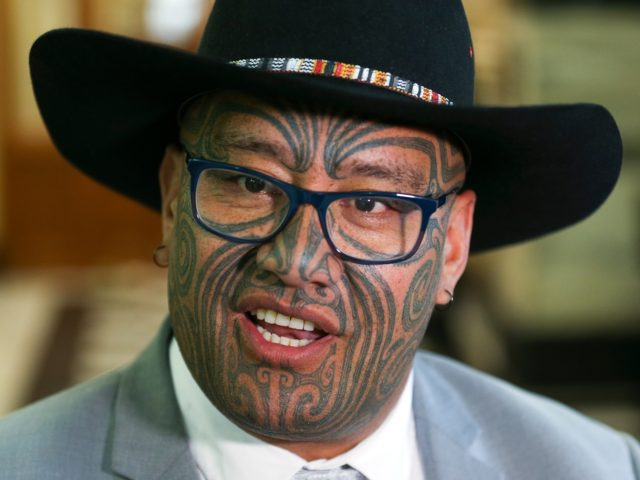 WELLINGTON, NEW ZEALAND - NOVEMBER 26: Maori Party co-leader Rawiri Waititi speaks to media during the opening of New Zealand's 53rd Parliament on November 26, 2020 in Wellington, New Zealand. The opening of New Zealand's 53rd Parliament marks the start of the new three-year Parliamentary term. It is the first …