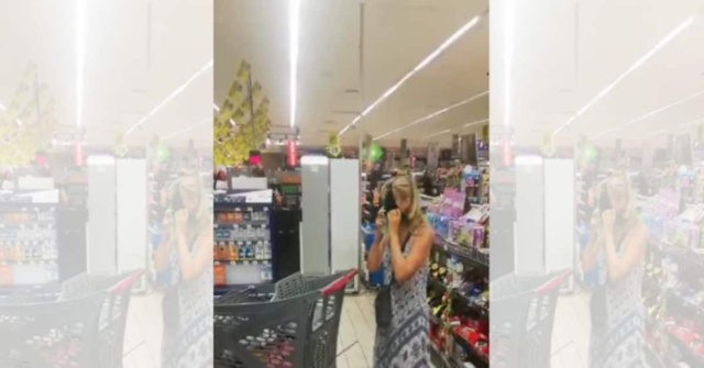 WATCH: Woman Uses Thong for Mask at South African Supermarket