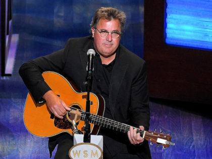 In this file photo, Vince Gill performs during the 95th anniversary celebration kick off at The Grand Ole Opry on October 03, 2020 in Nashville, Tennessee. Gill recently condemned Morgan Wallen's use of the N-word. (Photo by Jason Kempin/Getty Images)