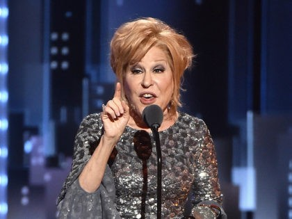 """NEW YORK, NY - JUNE 11: Bette Midler accepts the award for Best Performance by an Actress in a Leading Role in a Musical for """"Hello, Dolly!"""" onstage during the 2017 Tony Awards at Radio City Music Hall on June 11, 2017 in New York City. (Photo by Theo Wargo/Getty …"""