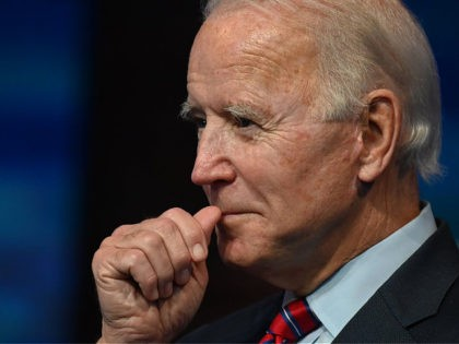 "US President-elect Joe Biden speaks on the latest unemployment figures at The Queen in Wilmington, Delaware on December 4, 2020. - US President-elect Joe Biden said that Americans face a ""grim"" employment picture and will need immediate help to get through the coming months as Covid-19 cases surge. (Photo by …"