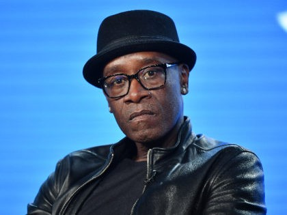 "PASADENA, CALIFORNIA - JANUARY 13: Don Cheadle of ""Black Monday"" speaks during the Showtime segment of the 2020 Winter TCA Press Tour at The Langham Huntington, Pasadena on January 13, 2020 in Pasadena, California. (Photo by Amy Sussman/Getty Images)"