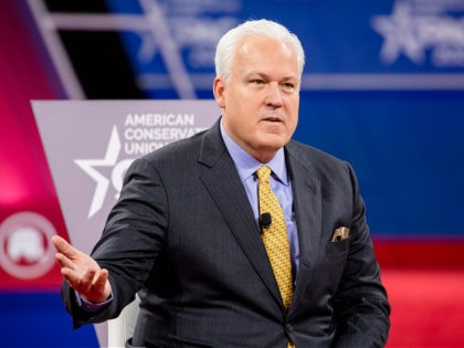 NATIONAL HARBOR, MD - FEBRUARY 28: Matt Schlapp (L), Chairman of the American Conservative Union, hosts a conversation with Laura Trump , President Donald Trumps daughter in-law and member of his 2020 reelection campaign, and Brad Parscale , campaign manager for Trump's 2020 reelection campaign, during the Conservative Political Action …