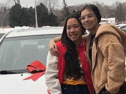 Hokule'a Taniguchi and Haley Bridges
