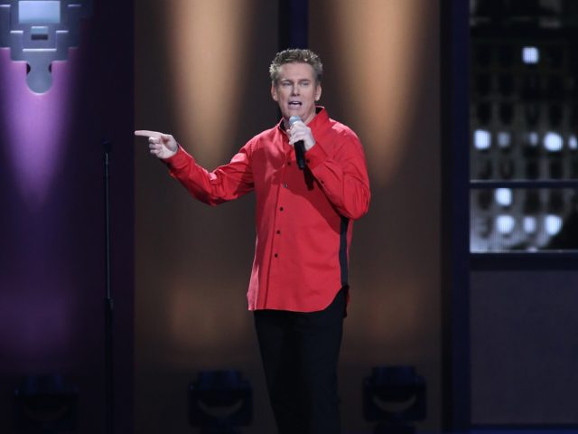 """NEW YORK, NY - SEPTEMBER 26: Comedian Brian Regan performs during Comedy Central's """"Brian Regan: Live From Radio City Music Hall"""" on September 26, 2015 in New York City. (Photo by Bennett Raglin/Getty Images for Comedy Central)"""