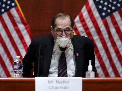 House Judiciary Committee Chairman Jerry Nadler (D-NY) reads a statement before questioning US Attorney General William Barr before the House Judiciary Committee hearing in the Congressional Auditorium at the US Capitol Visitors Center July 28, 2020 in Washington, DC. - In his first congressional testimony in more than a year, …