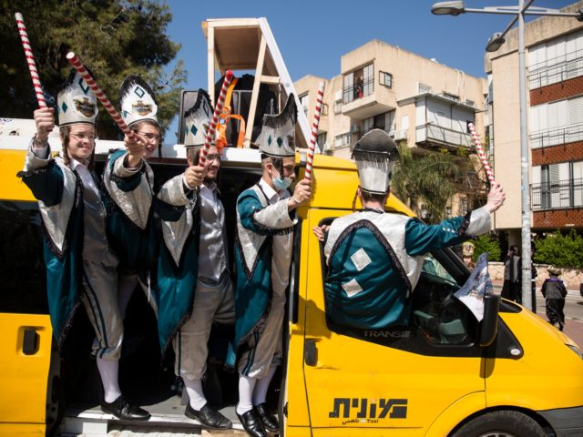 In Pictures: Israel Gets in Purim Spirit amid Fears of Rise in Infections