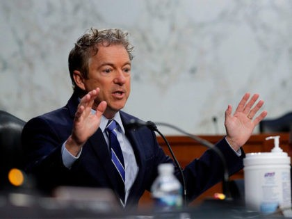 US Senator Rand Paul, Republican of Kentucky, speaks during a Senate Health, Education, Labor, and Pensions Committee nomination hearing on Capitol Hill in Washington, DC, on February 25, 2021. (Photo by TOM BRENNER / POOL / AFP) (Photo by TOM BRENNER/POOL/AFP via Getty Images)