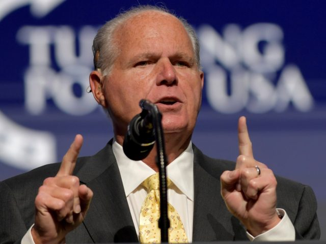 WEST PALM BEACH, FL - DECEMBER 21: Rush Limbaugh speaks at the 2019 Turning Point USA Student Action Summit - Day 3 at the Palm Beach County Convention Center on December 20, 2019 in West Palm Beach, Florida. People: Rush Limbaugh Credit: hoo-me / MediaPunch /IPX