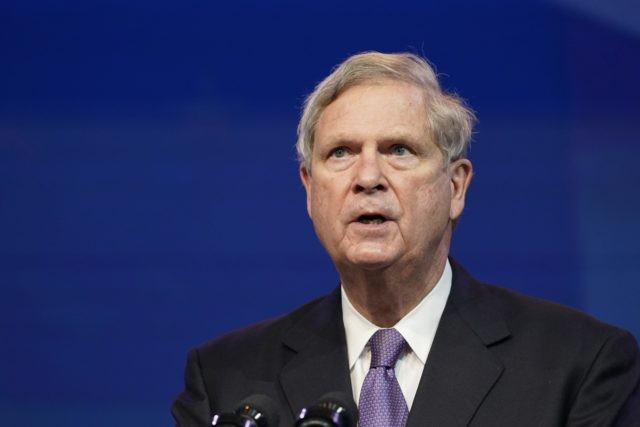 In this Dec. 11, 2020, file photo former Agriculture Secretary Tom Vilsack, who the Biden administration chose to reprise that role, speaks during an event at The Queen theater in Wilmington, Del. (AP Photo/Susan Walsh, File)