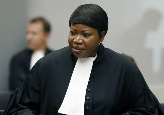 In this Tuesday Aug. 28, 2018 file photo, Prosecutor Fatou Bensouda at the International Criminal Court (ICC) in The Hague, Netherlands. The ICC says its jurisdiction extends to territories occupied by Israel in the 1967 Mideast war, appearing to clear the way for its chief prosecutor to open a war …