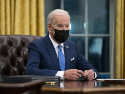 "In this Feb. 2, 2021 file photo, President Joe Biden speaks in the Oval Office of the White House in Washington. A new-old ritual is taking shape in the Biden White House, one that starts with bulky briefing packages, war-gaming the ""what-ifs,"" and Oval Office discussions about how to talk …"