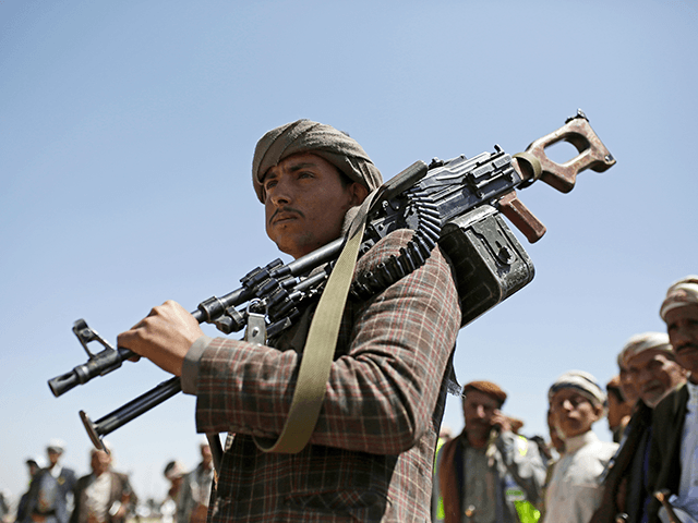 A Shiite Houthi tribesman holds his weapon during a tribal gathering showing support for the Houthi movement, in Sanaa, Yemen, Saturday Sept. 21, 2019. Yemen's Houthi rebels said late Friday night that they were halting drone and missile attacks against Saudi Arabia, one week after they claimed responsibility for a …