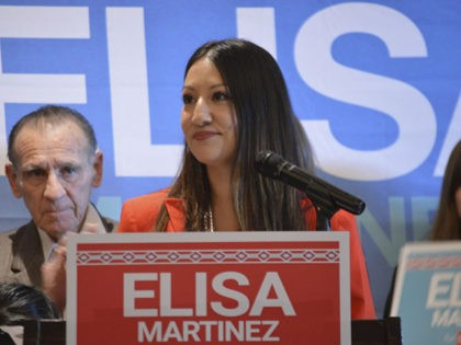 Republican Elisa Martinez speaks to supporters in Albuquerque, N.M., on Wednesday, Nov. 20, 2019, after she announced she will seek the GOP nomination for an open U.S. Senate seat in New Mexico. The Latina Republican and member of the Navajo Nation will face contractor Mick Rich and college professor Gavin …