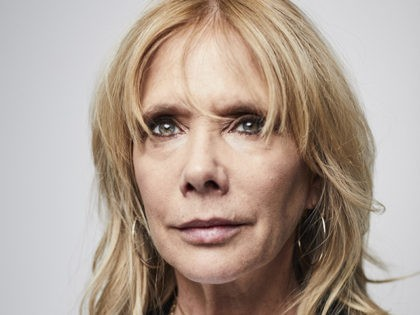 In this Friday, January 3, 2020 photo, Rosanna Arquette poses for a portrait in New York. (Photo by Matt Licari/Invision/AP)