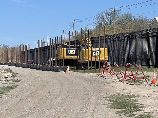 A halted border wall construction project in West Texas. (Photo: Randy Clark/Breitbart Texas)