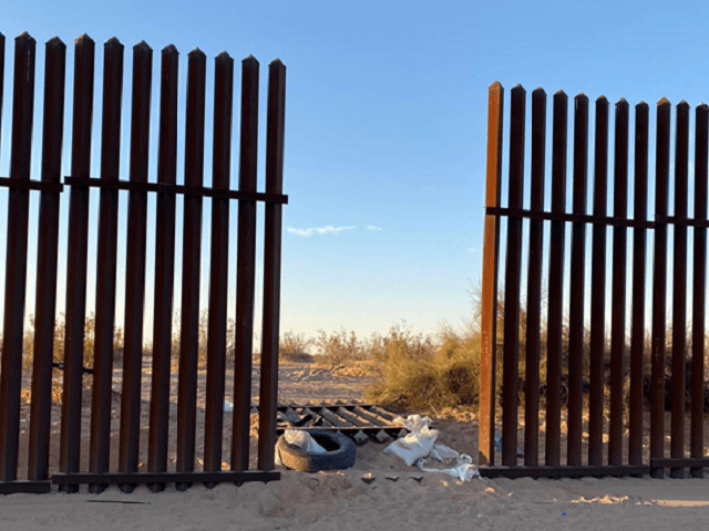 Two human smuggling vehicles appeared to have entered the United States through a breach in the border barrier near Holtville, California. (Photo: U.S. Border Patrol/El Centro Sector)