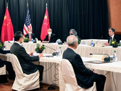 China-U.S. meeting (Frederic J. Brown / Pool / AFP / Getty)