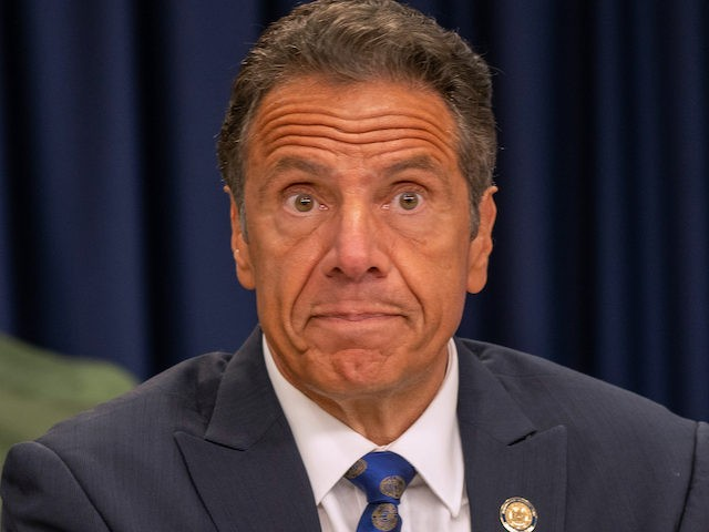 In this file photo, New York Governor Andrew Cuomo speaks during a COVID-19 briefing on July 6, 2020 in New York City. (David Dee Delgado/Getty Images)