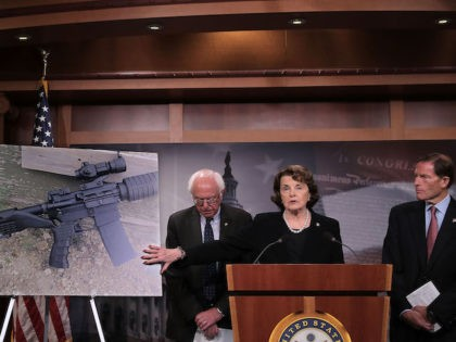 Sen. Dianne Feinstein (D-CA) holds a news conference to announce proposed gun control legislation at the U.S. Capitol October 4, 2017 in Washington, DC.(Chip Somodevilla/Getty Images)