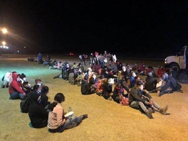 McAllen Border Patrol Station agents apprehend another large group of migrants crossing the border from Mexico. (Photo: U.S. Border Patrol/Rio Grande Valley Sector)
