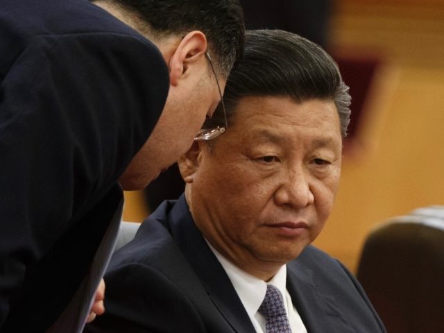 BEIJING, CHINA - NOVEMBER 2: Chinese President Xi Jinping attends a signing ceremony with Dominican Republic's President Danilo Medina (not pictured) at the Great Hall of the People on November 2, 2018 in Beijing, China. (Photo by Thomas Peter-Pool/Getty Images)