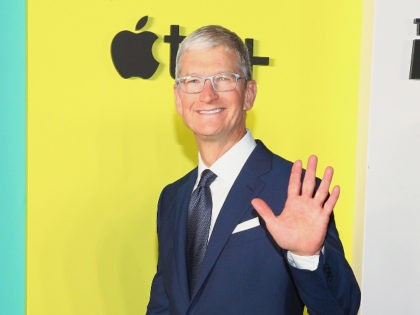 "NEW YORK, NEW YORK - OCTOBER 28: Apple CEO Tim Cook attends Apple TV+'s ""The Morning Show"" World Premiere at David Geffen Hall on October 28, 2019 in New York City. (Photo by Astrid Stawiarz/Getty Images)"