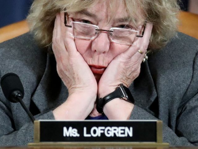 WASHINGTON, DC - DECEMBER 04: Rep. Zoe Lofgren (D-CA) listens as constitutional scholars testify before the House Judiciary Committee in the Longworth House Office Building on Capitol Hill December 4, 2019 in Washington, DC. This is the first hearing held by the House Judiciary Committee in the impeachment inquiry against …