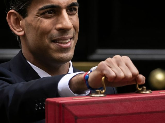 LONDON, ENGLAND - MARCH 11: Rishi Sunak, Chancellor of the Exchequer departs to deliver the annual Budget at Downing Street on March 11, 2020 in London, England. The government is presenting its first budget amid the economic pressure of the coronavirus outbreak. Earlier today, the Bank of England announced an ...