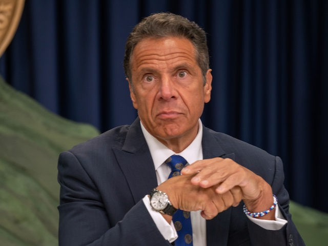 NY Gov. Andrew Cuomo speaks during a COVID-19 briefing on July 6, 2020 in New York City. (David Dee Delgado/Getty Images)