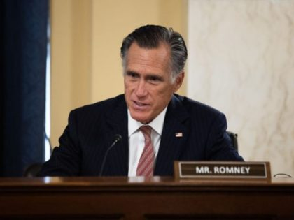 WASHINGTON, DC - JANUARY 19: Sen. Mitt Romney (R-UT) speaks at the confirmation hearing for President-elect Joe Biden's nominee for Secretary of State Antony Blinken before the Senate Foreign Relations Committee on Capitol Hill January 19, 2021 in Washington, DC. Blinken was previously Deputy Secretary of State in the Obama …
