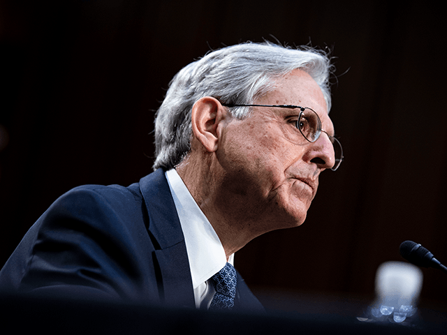 Attorney General nominee Merrick Garland listens during his Senate Judiciary Committee hearing on Capitol Hill in Washington, DC on February 22, 2021. (Photo by Al Drago / POOL / AFP) (Photo by AL DRAGO/POOL/AFP via Getty Images)