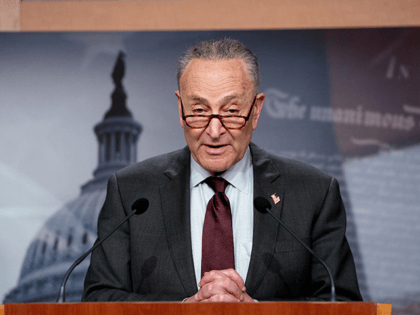 Senate Majority Leader Charles Schumer (D-NY) hold a press conference following the Senate policy luncheon on Capitol Hill in Washington, DC on March 23, 2021. - Schumer announced he would bring gun legislation to the floor, starting with universal background checks. This month the House of Representatives passed two measures …